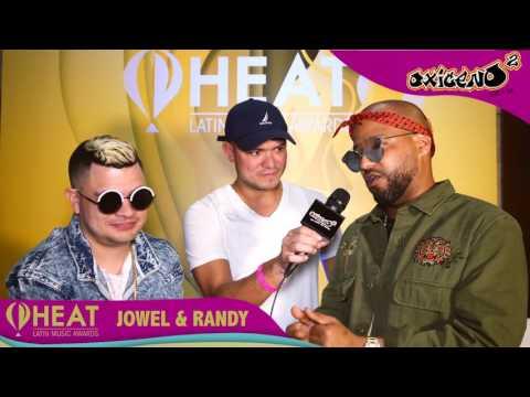 ENTREVISTA JOWELL Y RANDY EN LOS PREMIOS HEAT 2017