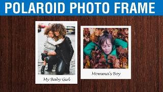 Photoshop CC Polaroid Çerçeveli bir Resim yapmayı, CS6 | Polaroid Efekti Photoshop