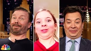 Tonight Show Funny Face Off with Ricky Gervais