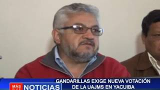 Gandarillas exige nueva votación de la UAJMS en Yacuiba