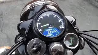 Digital Speedometer on standard 350 cast iron Royal Enfield.