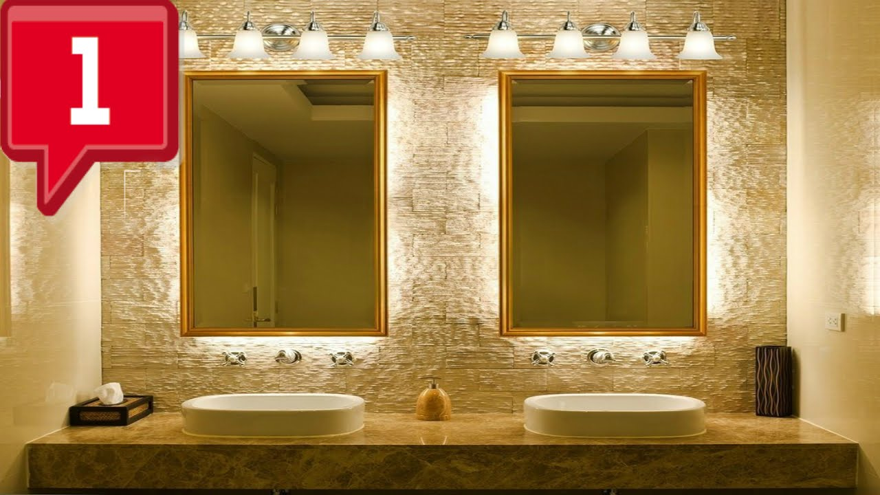 Cool bathroom light fixtures ideas youtube Cool bathroom lighting ideas