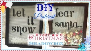 Diy: Pinterest Christmas Shadowbox Art