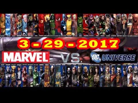 MARVEL COMICS VS. DC COMICS 3/29/2017 : THE WEEK MARVEL BEAT DC