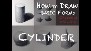 How to Draw Cylinder with Charcoal by KOH STUDIO.