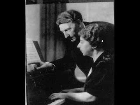 Mozart Sonata For Two Pianos 3rd Mov. J & R Lhevinne 1939