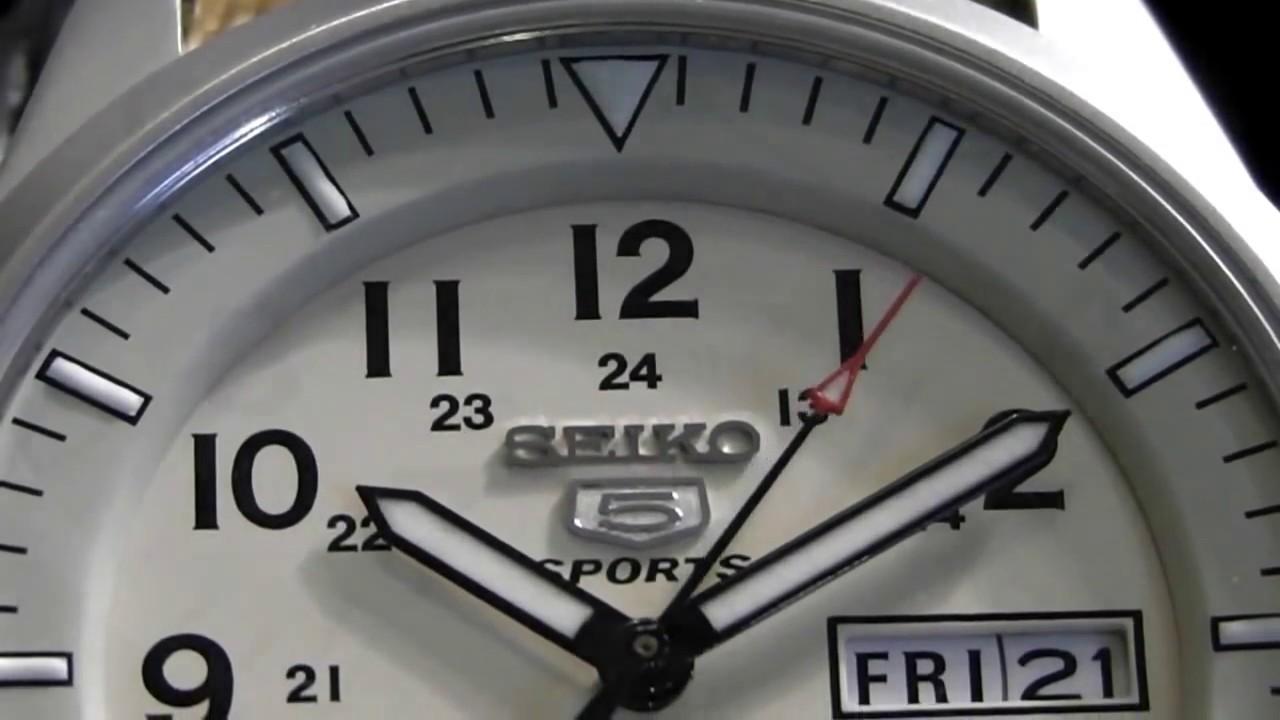 2s Time Seiko Snzg07k1 5 Sports 100m Automatic Military