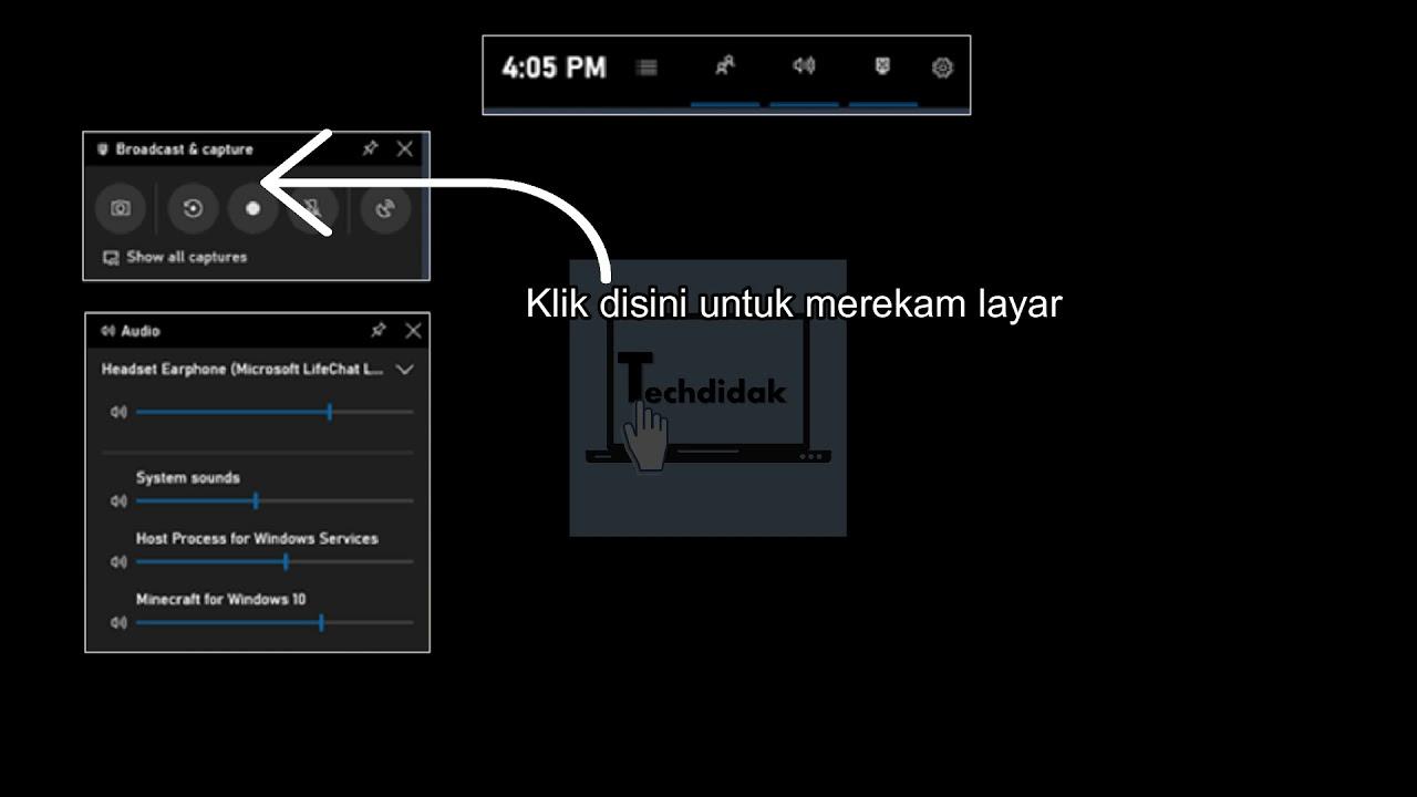 Cara Rekam Layar Laptop Di Windows 10 Tanpa Aplikasi Youtube