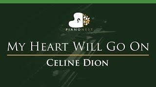 Celine Dion - My Heart Will Go On - LOWER Key (Piano Karaoke)
