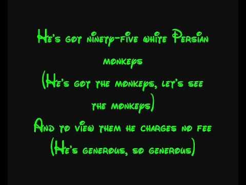 Prince Ali - Aladdin Lyrics