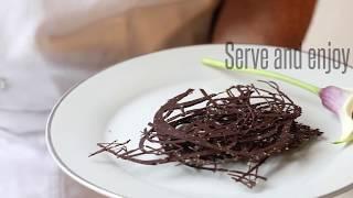 How to Make Chocolate Swirls  Easy Chocolate Decorations  Impressive Desserts Garnish Ideas