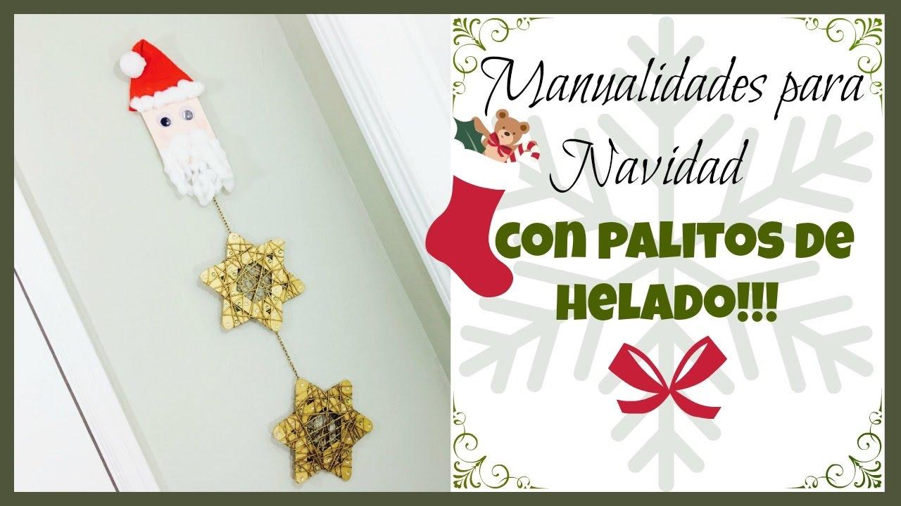 Manualidades para navidad con palitos de helado 2 - Manualidades de ganchillo para navidad ...