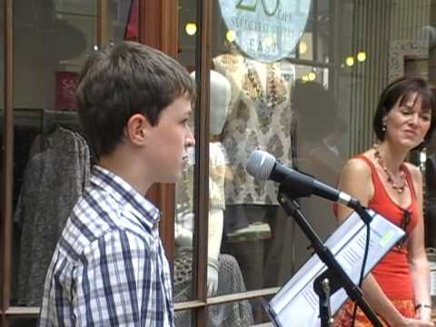 Cameron Kirk singing 'Make me a channel of your peace'