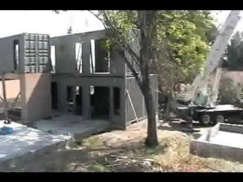 Shipping Container House 2nd Floor Installation Youtube