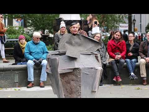 Dianne Wiest performing Samuel Beckett in Madison Square Park