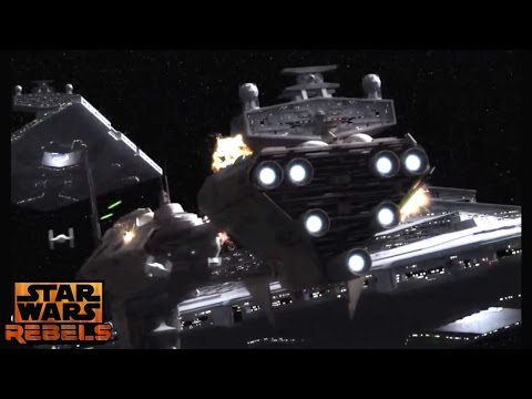 Star Wars Rebels: Thrawn's Imperial fleet Vs The Rebellion (Space Battle)