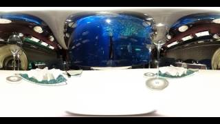 Restaurant Al Mahara, Burj Al Arab, aquarium, 360 video