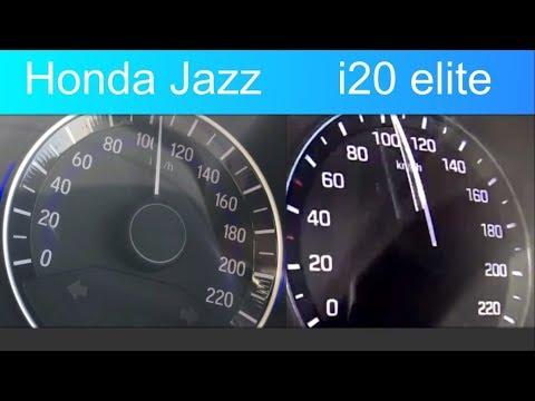 Honda Jazz 1.2 Vs Hyundai I20 Elite 1.2 0-100 Acceleration