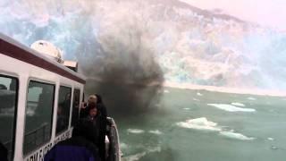 Calving Glacier Causes Panic