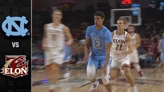 North Carolina vs. Elon Basketball Highlights (2018-19)