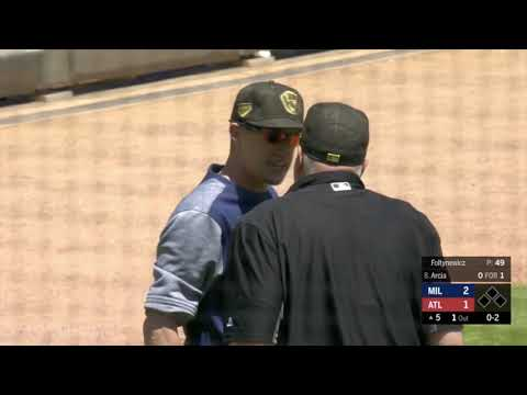 Craig Counsell gets ejected for telling the home plate ump to watch the game, a breakdown