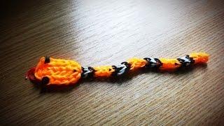 Делаем змею из резинок Rainbow Loom :)