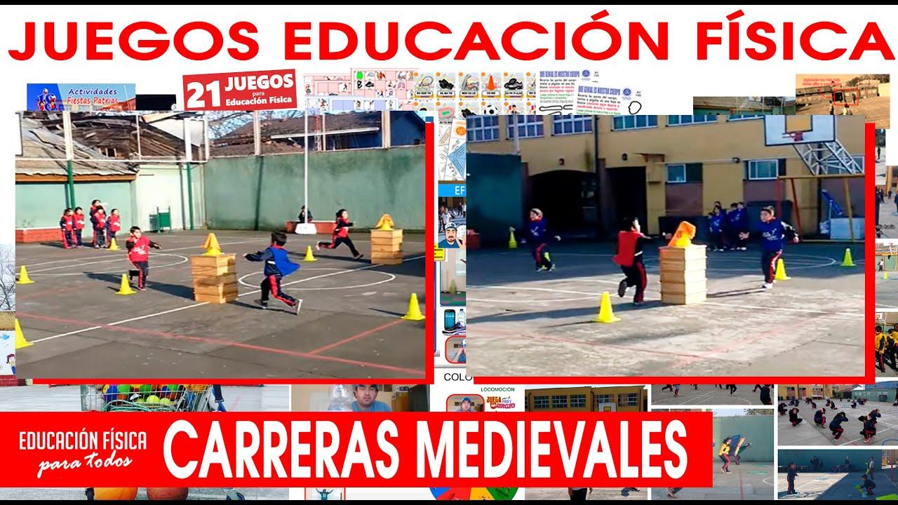 Juegos Educación Física  Carreras Medievales  Youtube