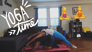 WE TRIED COUPLE'S YOGA....*HILARIOUS*!
