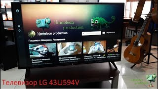 Обзор телевизора LG 43LJ594V (SMART TV, 1080p Full HD)