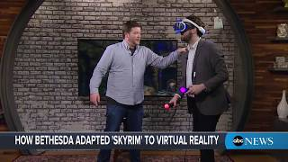 'Skyrim VR' demo  Play test the new 'Elder Scrolls' virtual reality game