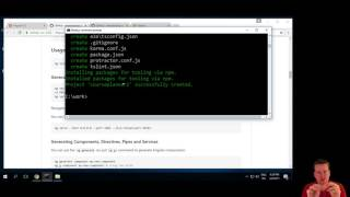 first angular2 application on windows using angular cli