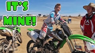 RIDING A 450 KAWASAKI