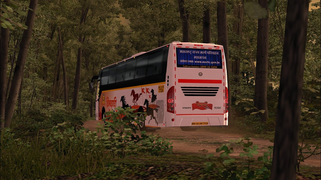 ShivShahi bus driving in forest | Euro truck simulator 2 | Indian Volvo bus  mod