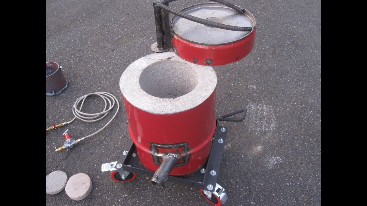 Homemade Propane Foundry Furnace Metal Aluminium Tutorial ...
