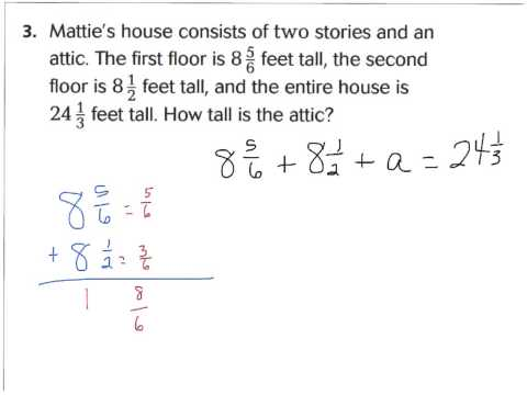lesson 6.9 problem solving fractions addition and subtraction