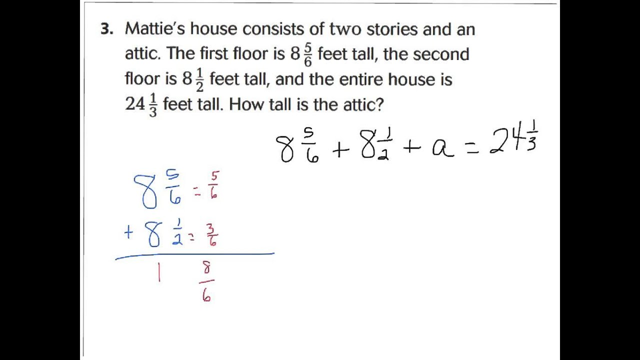 worksheet Adding Fractions Problems lesson 6 9 problem solving fractions addition and subtraction subtraction