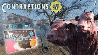 Fallout 4 - Contraptions - The Brahmin Farm! - 1