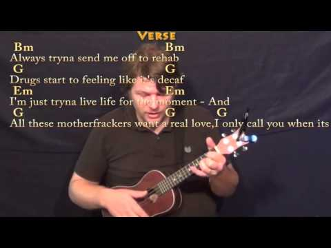 The Hills (The Weeknd) Ukulele Cover Lesson in Bm with Chords/Lyrics