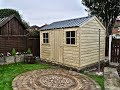 Handmade Garden Cottage Shed Installation Time Lapse