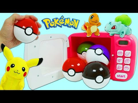 Finding Pokemon and Surprise Toys Using the Magic Toy Microwave Playset!