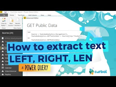 Extract in Power Query (LEN, LEFT, RIGHT in excel) - #6 (M