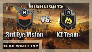 3rd Eye Vision vs. KZ Team | War Highlights | Clash of Clans