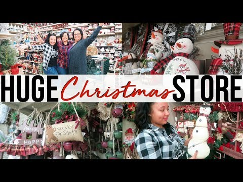 SHOP WITH ME FOR CHRISTMAS DECOR!! | CHRISTMAS TREE SHOPS 2017 | Page Danielle