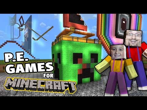 Minecraft Pocket Edition Games by MIKE + Restaurant & New Roller Coaster! (w/ Dad)
