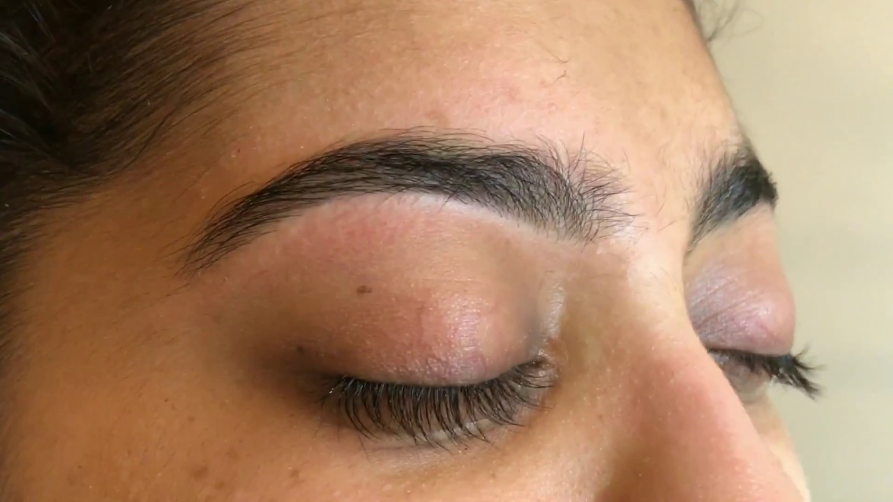 Eyebrow Threading Before And After Youtube