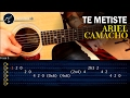 Como tocar Te Metiste  ARIEL CAMACHO  En Guitarra | Tutorial Requinto