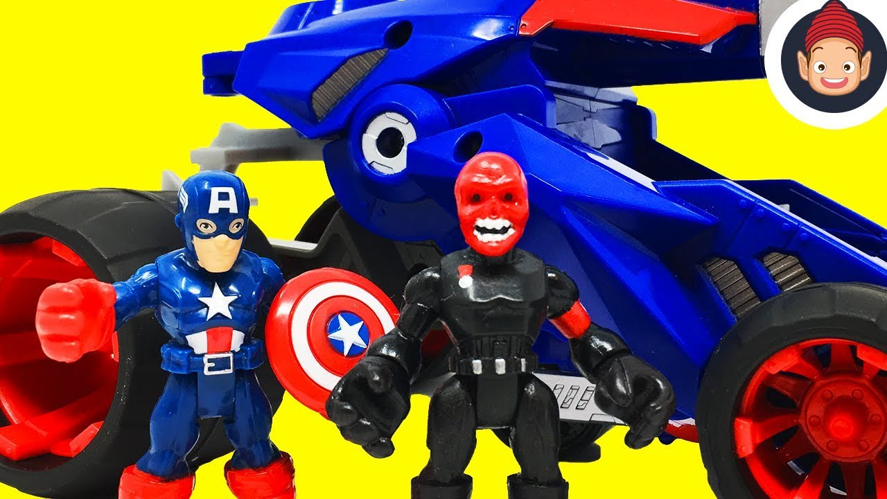 Playskool Héros Marvel Super Hero Adventures Captain America victoire Racer