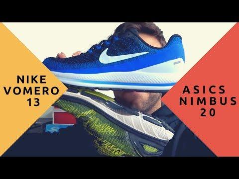 Asics Nimbus 20 vs Nike Vomero 13 ? Duelo de topes de gama