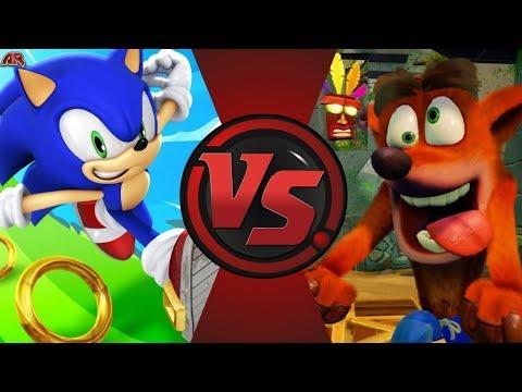Sonic the Hedgehog vs Crash Bandicoot! Cartoon Fight Night Episode 52!