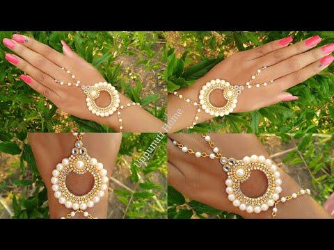 How To Make Beautiful Bracelet At Home | DIY | Bridal Wrist Chain | Jewelry Making | uppunutihome